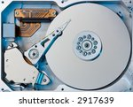 closeup of an hard drive with... | Shutterstock . vector #2917639