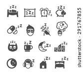 sleeping icons set  vector | Shutterstock .eps vector #291767855
