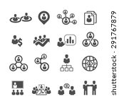 business icons set vector | Shutterstock .eps vector #291767879