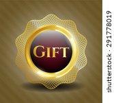 gift gold shiny badge | Shutterstock .eps vector #291778019