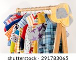 dressing closet with clothes... | Shutterstock . vector #291783065