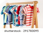 dressing closet with clothes... | Shutterstock . vector #291783095