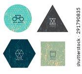 set of modern minimalistic... | Shutterstock .eps vector #291790835