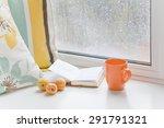 Three Apricots On Windowsill A...