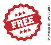 free. free badge. free tag.... | Shutterstock .eps vector #291791864
