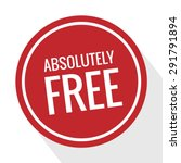 free. free badge. free tag.... | Shutterstock .eps vector #291791894