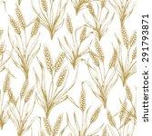 wheat seamless pattern. vector... | Shutterstock .eps vector #291793871