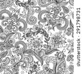 vector seamless black  red and... | Shutterstock .eps vector #291798731