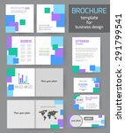 set of corporate business... | Shutterstock .eps vector #291799541