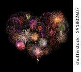 Heart Fireworks Celebration On...