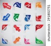easy open corner package set | Shutterstock .eps vector #291802751