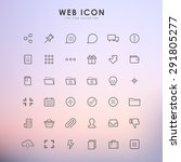 web outline icons on gradient... | Shutterstock .eps vector #291805277