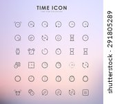 phone outline icons on gradient ... | Shutterstock .eps vector #291805289