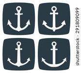 anchor icons | Shutterstock .eps vector #291809099