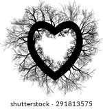 big heart with trees
