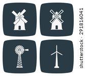 windmill icons | Shutterstock .eps vector #291816041