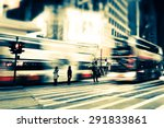 abstract cityscape blurred... | Shutterstock . vector #291833861