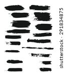 big set of grunge brush strokes.... | Shutterstock . vector #291834875