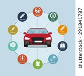 infographic template with car... | Shutterstock .eps vector #291841787
