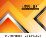 orange abstract background | Shutterstock .eps vector #291841829