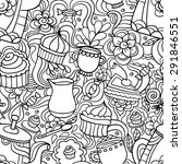 doodle seamless pattern about...   Shutterstock .eps vector #291846551
