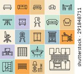 furniture icons. isolated flat... | Shutterstock .eps vector #291848711