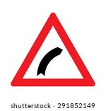 bend to right warning traffic... | Shutterstock .eps vector #291852149