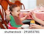 Hungry Baby Boy Being Fed A...