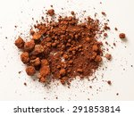 Red Soil Isolated On White...