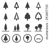tree vector icons set | Shutterstock .eps vector #291857735