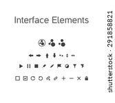 vector set of interface...