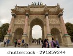 paris   sept 17  2014  tourists ... | Shutterstock . vector #291859244