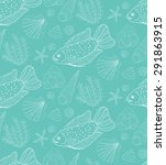 vector hand drawn seamless... | Shutterstock .eps vector #291863915