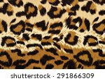 brown leopard fur pattern.... | Shutterstock . vector #291866309