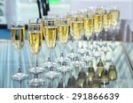 Elegant Glasses With Champagne...