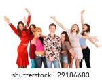 cheerful group of young people. ... | Shutterstock . vector #29186683