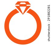 diamond ring icon from commerce ... | Shutterstock . vector #291882281