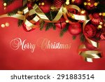 christmas card with space and...   Shutterstock . vector #291883514