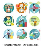 set of circle colorful icons... | Shutterstock . vector #291888581