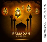 traditional lantern of ramadan  ... | Shutterstock .eps vector #291897575