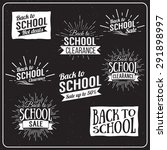back to school typographic  ... | Shutterstock .eps vector #291898997