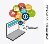 shopping digital design  vector ... | Shutterstock .eps vector #291905669