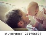 happy young father is playing... | Shutterstock . vector #291906539