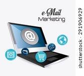email marketing design  vector... | Shutterstock .eps vector #291906929