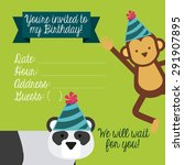 birthday invitation design ... | Shutterstock .eps vector #291907895