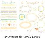 vector brush lines. hand drawn... | Shutterstock .eps vector #291912491