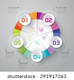 infographic design template can ... | Shutterstock .eps vector #291917261