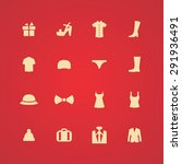 clothes icons universal set for ... | Shutterstock . vector #291936491