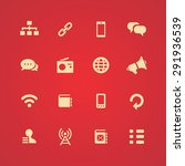 communication icons universal... | Shutterstock . vector #291936539