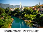 Beautiful View On Mostar City...